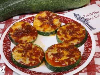 How to Make Zucchini Pizza Bites in the Toaster Oven~Easy Baked Zucchini Recipe