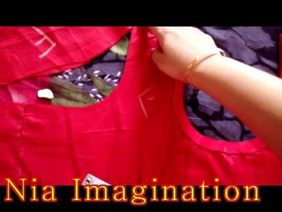 How to measure attach sleeves to kurti, suit, dress with english subtitles