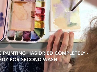 How to Paint Lilacs and Glass Vase in Watercolor