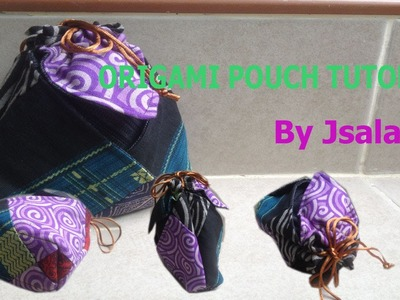 How to sew an origami pouch