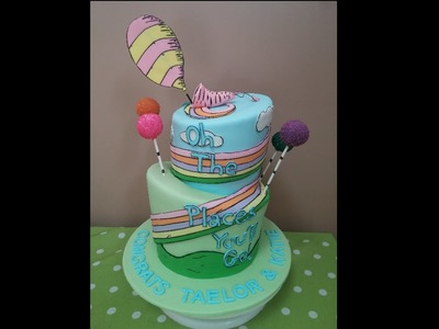 How to: Topsy Turvy Dr Seuss Oh The Places You'll Go Cake Tutorial!