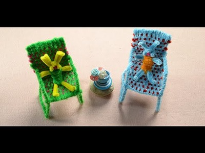 Kids Crafts Idea  How to Make Colorful Chenille Stem Chairs