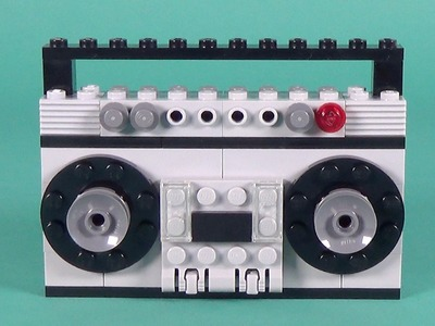 """Lego Radio Cassette Player Building Instructions - Lego Classic 10702 """"How To"""""""