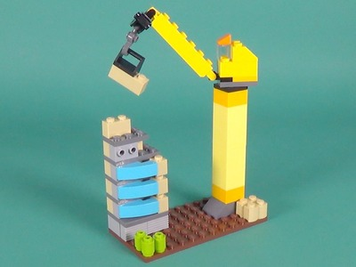 """Lego Tower Crane Building Instructions - Lego Classic 10697 """"How To"""""""