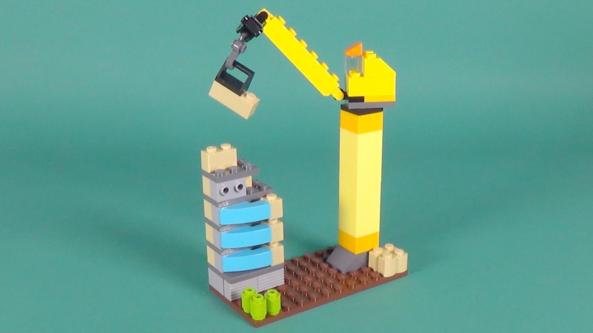 Lego tower crane building instructions lego classic for Lego classic house instructions