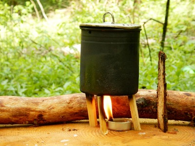 One Tea Light Candle Stove + How To Make One