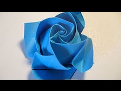 Origami Tutorial - How to fold Origami ROSE