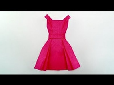 Origami Tutorial - How to fold Origami Dress