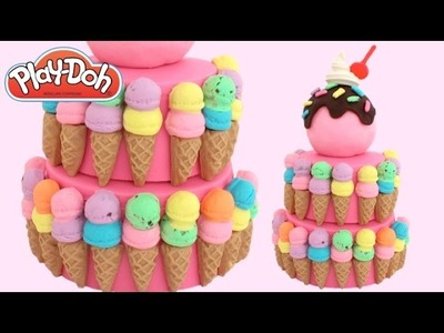 Play-Doh How to Make an Ice Cream Cake * Play Dough Art * Creative Fun for Kids * RainbowLearning