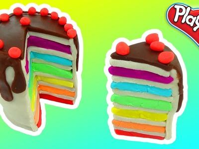 Play-Doh Rainbow Cake Cream - Play Doh How to make Cream Cake Rainbow PEPPA PIG ESPAñOL FUN