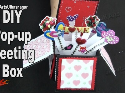 Pop up Surprise Box card | scrapbook Tutorial for Gift Idea | JK Arts  971  JK Arts