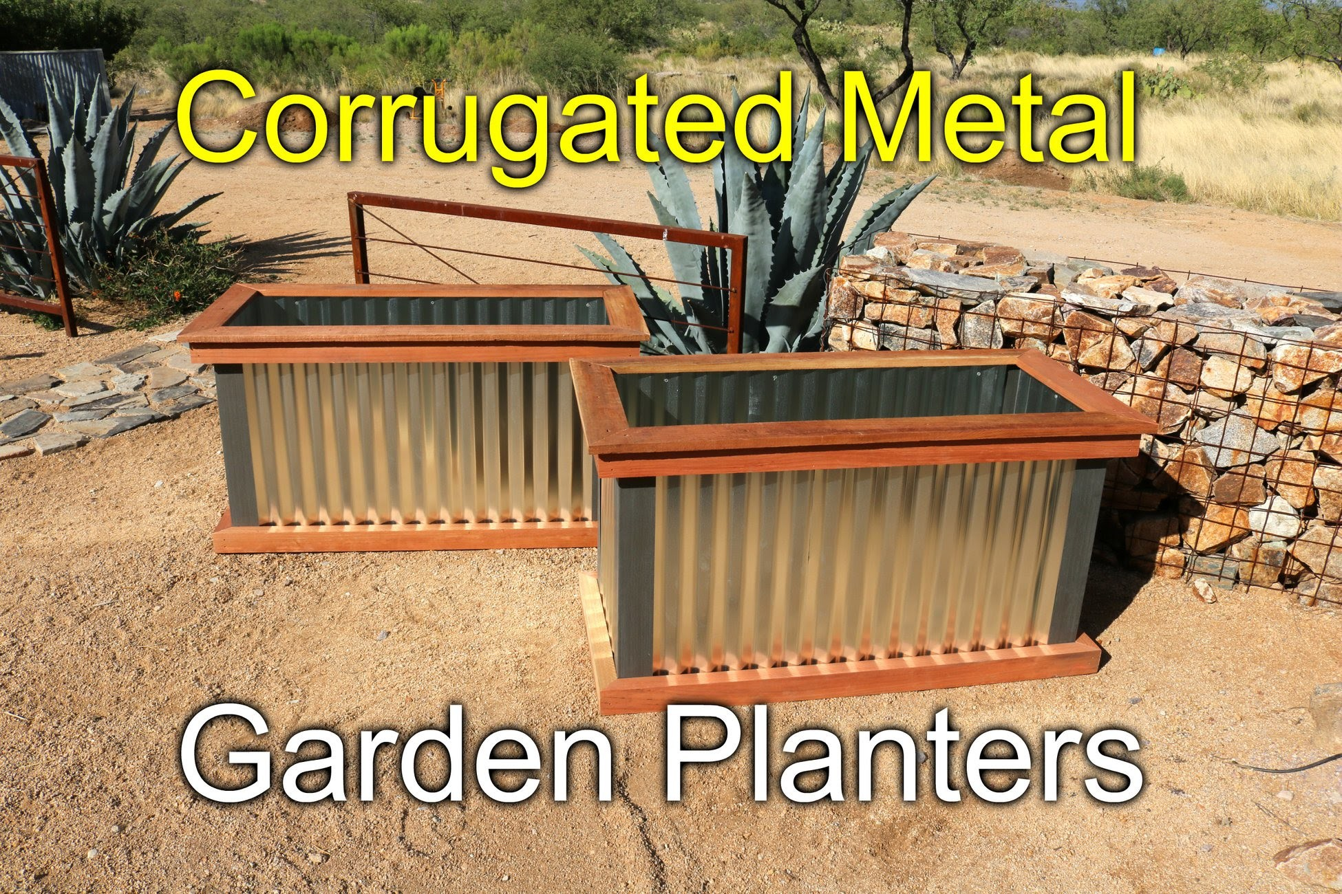 Redwood and Metal Planters - How To