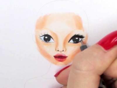 Topmodel Malbuch | How to draw a face| Gesicht malen | Copics || Foxy Draws