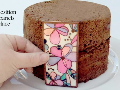 TUTORIAL: How to create decorative Chocolate panels for Cake Decor