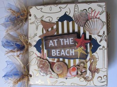 Two Beach.Summer Themed Scrapbook Mini Albums