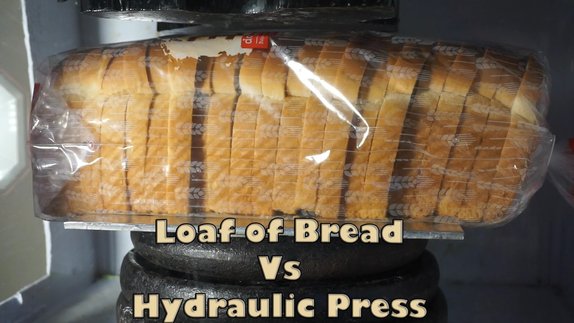 Bread Loaf Crushed by Hydraulic Press | How To Make Bread Thinner Than Paper