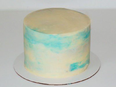 Cake decorating - how to make buttercream marble effect
