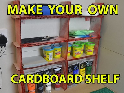 Card Board Shelf, How To Build