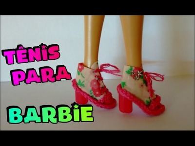 Como fazer sapato para Barbie, Monster High, Ever After High .  How to make shoes for Barbie doll