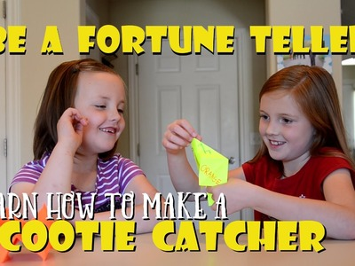 Cootie Catcher Fortune Teller Easy Kid Craft DIY - How to Make a Cootie Catcher