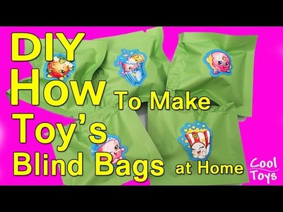 DIY How to Make Toy Blind Bags at Home Shopkins Twozies Grossery Gang MLP & GIVEAWAY - CoolToys