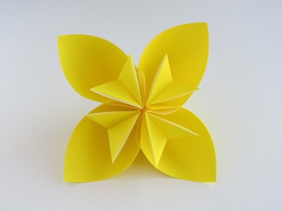 Easy Origami   How To Make A Flower By Paper   Origami For Beginner