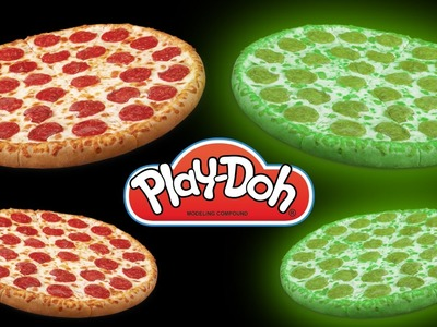 Glow In The Dark Play Doh Pizza | How To Make Glow In The Dark Playdough Pizza with DCTC