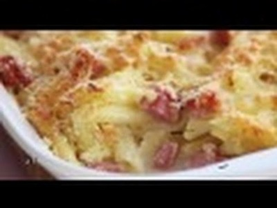 How to Carbonara pasta bake