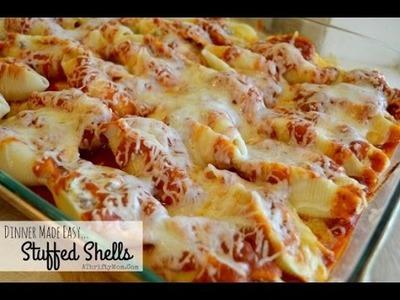 How to cook Manicotti Stuffed Shells easy Pasta recipe Freezer Meals