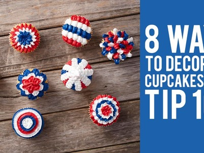 How to Decorate Cupcakes with Tip 100 – 8 ways!