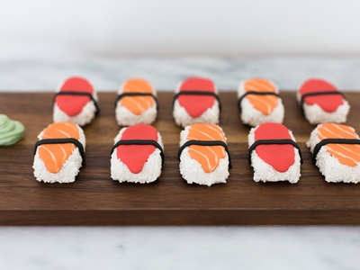 How to Decorate Sushi Cookies - Cookie Decorating by OllieandBird.com