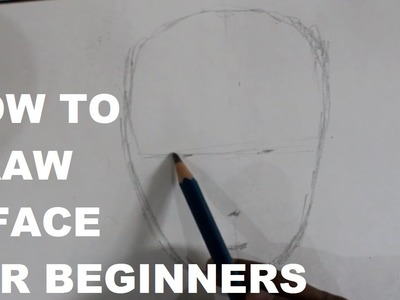 How to draw a face for beginners in hindi