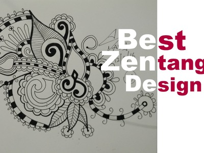 How To Draw Best Zentangle Doodle Mandala Zendoodle Art Design Speed Tutorial Learn