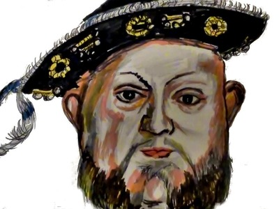 How to Draw KING HENRY VIII !!!!