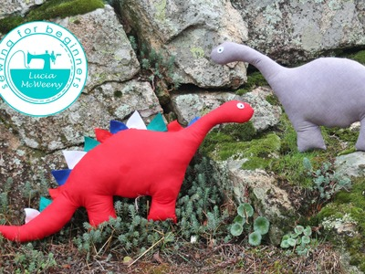 How to make a dino softy: sewing for beginners