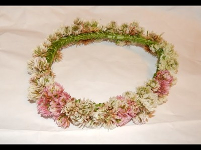 How to Make a Flower Chain (daisy, clover chain, headband, halo, bracelet, crown) Tutorial