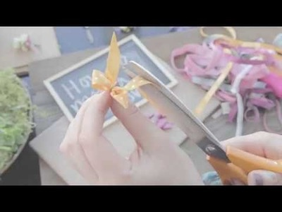 How to make a ribbon bow for a ladies corsage