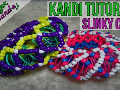 How to Make a Slinky Cuff - [Kandi Tutorial] | @GingerCandE
