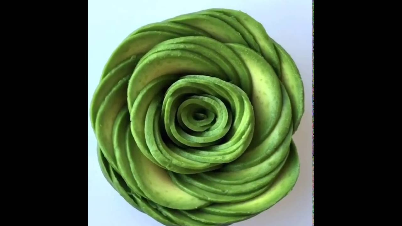 How to make an Avocado Rose
