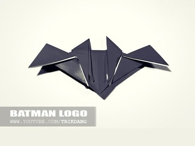 How to make an Easy Origami for Kids | Batman Logo