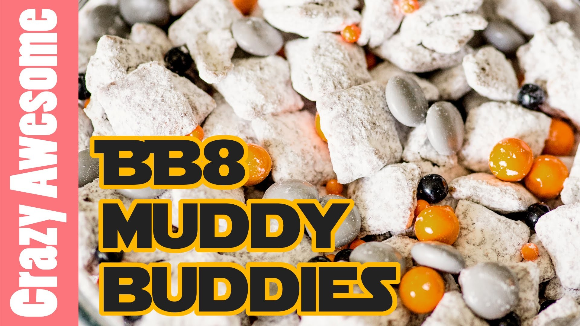 How to make bb8 muddy buddies - Star Wars Party Food