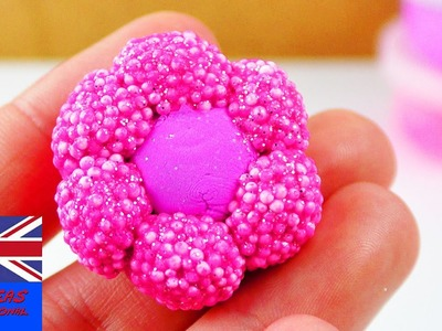 How to make glitter foam clay and silk clay! Cute flower