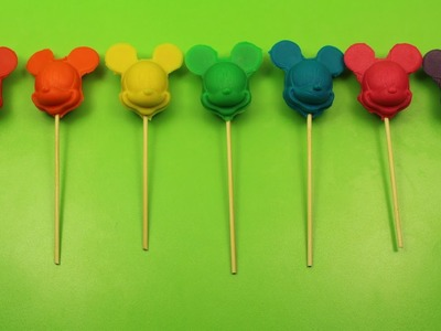 How to Make Mickey Mouse Lollipop with Play-Doh Video! Fun and Creative for Babies Toddlers Kids