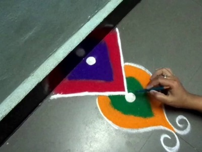 How to make new beautiful rangoli design
