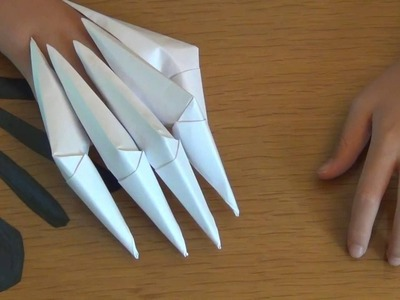 How to make paper claws! (easy)