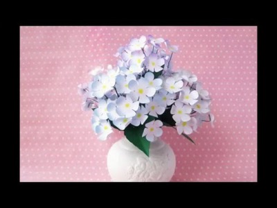 How to make paper flower at home step by step easy-2016  | tutorial origami on youtube
