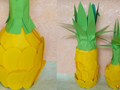 How to make Pineapple from a Bottle? DIY