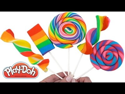 How to Make Play-Doh Lollipops * Creative Fun for Kids * Play Dough Modelling * RainbowLearning
