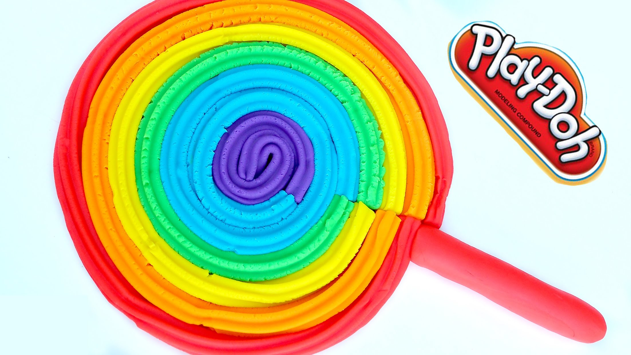 How To Make Play Doh Super Mega lollipop Modelling Clay Rainbow Learning Colors Kids Play