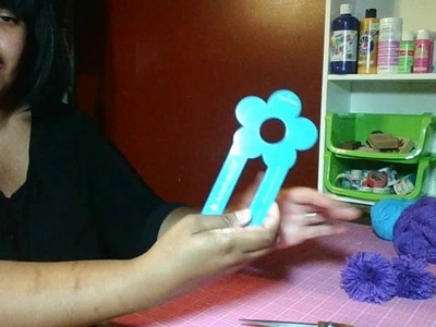 How to make pom poms using the American Girl pom pom maker